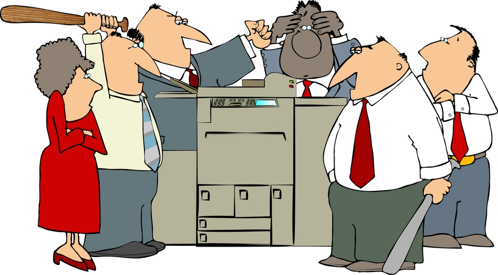 How destroying printers can help anger management
