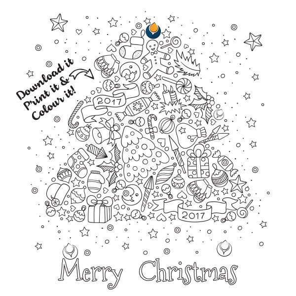 Free Christmas Colouring Printables